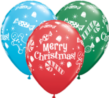 "Christmas Balloons - 11"" Christmas Candies (25pcs)"